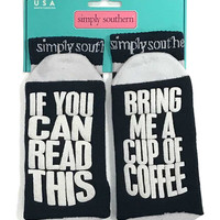 If You Can Read This Bring Me A Cup Of Coffee Socks by Simply Southern