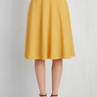 Scholastic Long Full Just This Sway Skirt in Goldenrod