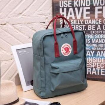 ONETOW Fjallraven Kanken Durable Backpack Gray Blue School Bag