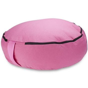 "Pink 18"" Round Zafu Meditation Cushion"