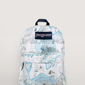 JanSport World Map Backpack   Special from NosFashionGraphic on