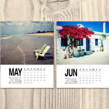 Photo calendar 2016, 8x10 photo calendar, wall calendar, travel calendar, photography calendar, office calendar, desk calendar, gift, Greece