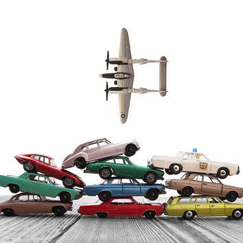 Vintage Matchbox Car Pile AirPlane Flyover