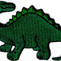 Green Dinosaur - Brachiosaurus - Embroidered Sew or Iron on Patch