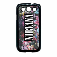Nirvana Logo Floral Flower Design Samsung Galaxy S3 Case