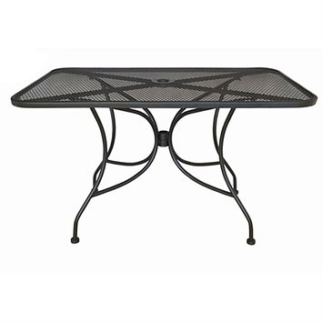 Black Metal 48 x 30 inch Outdoor Patio Table