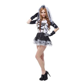 Women Movie Corpse Bride Cosplay Halloween Scary Zombie Costume Easter Thanksgiving Day Purim Carnival Masquerade tricky dress
