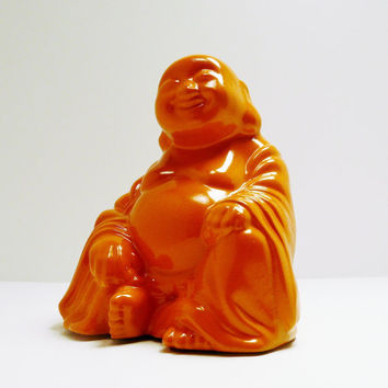 ceramic buddha figurine // kitschy home decor // by nashpop