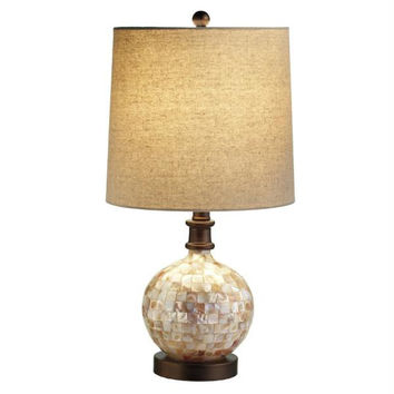 2 Table Lamps - Capiz Shell
