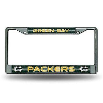 IFSB-RICFCGL3301-NFL Green Bay Packers Bling Chrome Plate Frame