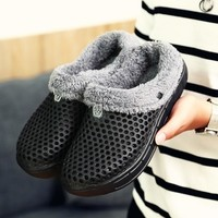 Men Shoes Winter Warm Fur Men Slippers Home Indoor Plush House Shoes Indoor Bedroom House Shoes  Footwear Female Plush Slippers