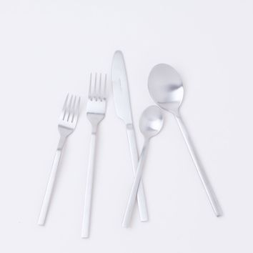 Apsel Brushed Stainless Flatware Set