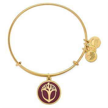 Alex and Ani Cabernet Unexpected Miracles Charm Bangle - Shiny Gold...
