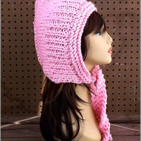 Knitting Pattern Hat, Knitted Hat, Pink Hat, African Hat, Knit Hood Pattern, Warrior Hat, Warriors Hat, WARRIOR PRINCESS Knit Pattern