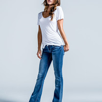 Rsq Venice Womens Flare Jeans Medium Blast  In Sizes