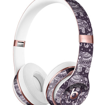 Purple Sacred Elephant Pattern Full-Body Skin Kit for the Beats by Dre Solo 3 Wireless Headphones