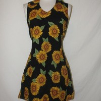 Vintage 80's 90's mini summer sunflower dress WHOLESALE