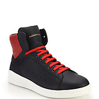 Alexander McQueen - Leather High-Top Sneakers - Saks Fifth Avenue Mobile