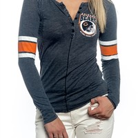 Chicago Bears Womens Vintage Raglan Top | SportyThreads.com