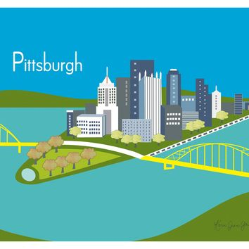 Pittsburgh, Pennsylvania - Blue