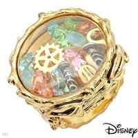 DISNEY COUTURE TINKERBELL 3D GLASS PIXIE TOOLS TRINKETS SWAROVSKI RING**SZ 6!!