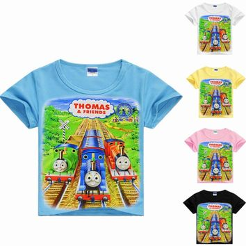 2017 boys t shirt thomas train clothing kids clothes children tops thomas and friends clothes boy t-shirt roupas infantis menino
