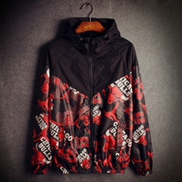 spring autumn thin single layer full bull printingmen's fashion Sunscreen clothing/ leisure windbreaker fast dry jacket