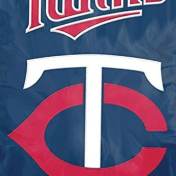Party Animal Sports Fan MLB Team Minnesota Twins Applique Banner Flag