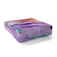 Rosie Brown Color My World Floor Pillow Square