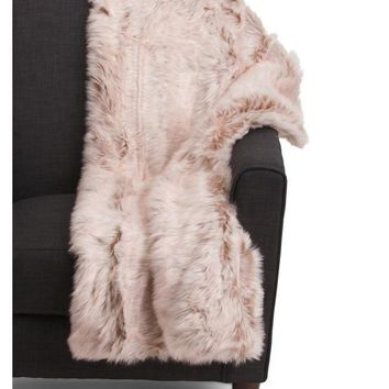 Designer Luxury Faux Fur Pink Gift Boxed Throw Blanket