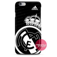 Real Madrid FC Jersey Black Adidas iPhone Case 3, 4, 5, 6, 6s, 6 Plus Case Cover