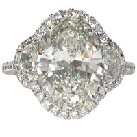 Incredible GIA 5 Carat Oval Diamond Platinum Engagement Ring