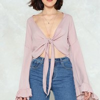 The Frill of the Chase Bell Sleeve Top