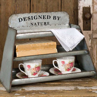 Galvanized Countertop Shelf Display