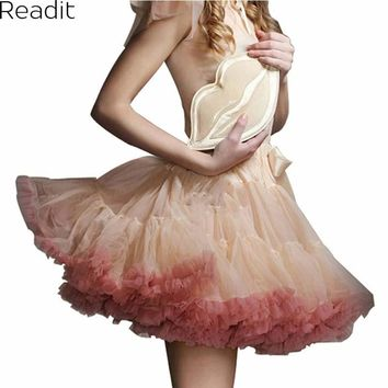 Sexy Micro Skater Mini Skirts Tulle Skirt Party Dance Tutu Skirt Women Lolita Petticoat Womens Faldas Saia jupe courte S1791