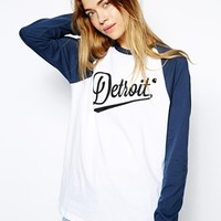 Carhartt Raglan Top With Detroit Print