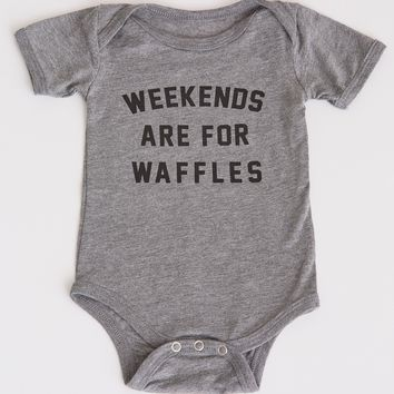 Weekends are for Waffles Onesuit