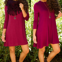Shop Priceless Maeve Dress - Burgundy