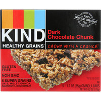 Kind Bar - Granola - Healthy Grains - Dark Chocolate Chunk - 5-1.2 Oz - Case Of 8