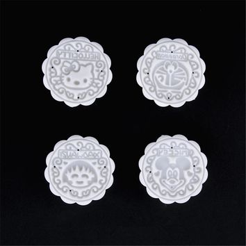 AMW Kitchen Accessories Cartoon Hello Kitty Shaped Mooncake Mold Plastic Moon Cake Mould DIY Kitchen Items The Goods For Kitchen