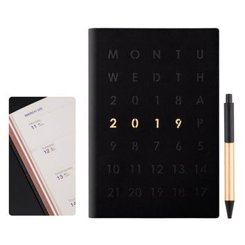 A 2019 Notebook Journal Planner Calendar Book