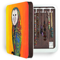DENY Designs Home Accessories | Clara Nilles Glowing Owl On Sunset BlingBox 3ct