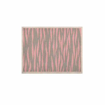 "Wildlife ""Pink Animal Print 12"" Gray Painting KESS Naturals Canvas (Frame not Included)"