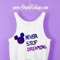 Never Stop Dreaming Crop Tank Top