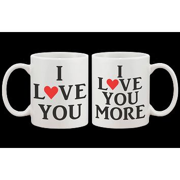 I Love You Couple Matching Coffee Mug -His and Hers Matching Coffee Mug Cup