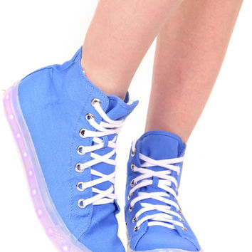 BLUE ILLUMINATE HIGH TOP SNEAKER