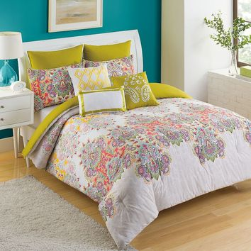 KS Studio Ingrid Comforter Set (Green)