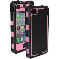 Ballistic Iphone 4 And 4s Hard Core Series Case With Holster (black And Pink)