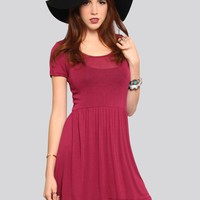 Courtney Babydoll Dress - Burgundy - What's New | GYPSY WARRIOR