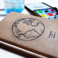 Travel Journal / Notebook Globe